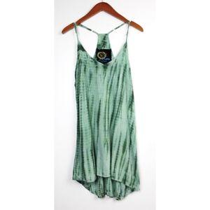 Blue Life Tie Dye Racerback Slip Dress Cover Up